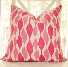 Pink Geometric Pillow Cover 18x18 $42