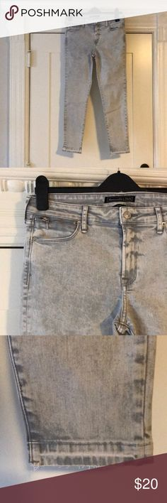 Skinny Jeans New with tags! Release hem in fun gray wash Abercrombie & Fitch Jeans Skinny