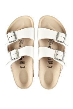 birkenstock arizona sandals white | bassike