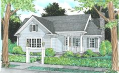 Traditional Plan: 1,333 Square Feet, 3 Bedrooms, 2 Bathrooms - 4848-00241