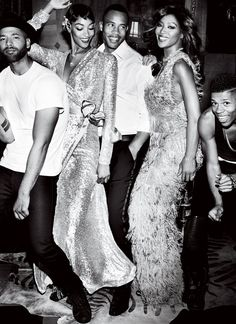 Jussie Smollett, Jourdan Dunn, Trai Byers, and Naomi Campbell for Vogue Magazine September 2015 photographed by Mario Testino