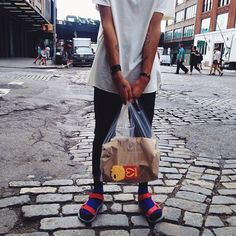 @simplisticman taking a stroll around the streets of NY in his #SocksAndSandals.