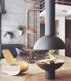 Best Home Decoration Stores Product Modern House Design, Interior Design Classes, Industrial Kitchen Design, Wood Heater, Contemporary Interior, Industrial Lighting Design, Open Plan Living, Home Decor, Home Decor Tips
