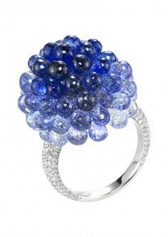 Chopard Anello Allegro anello Copacabana con zaffiri e diamanti
