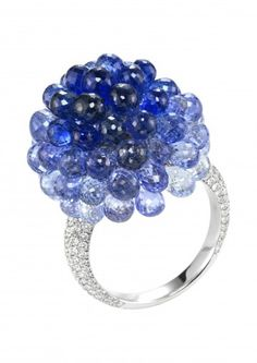 Chopard Ring A festive sapphire and diamond copacabana ring