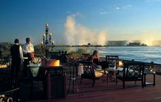 Royal Livingstone Hotel, Victoria Falls, Zambia. Best place for sundowners, especially when it is with family :)