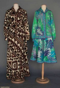 Two Pucci Blouse & Skirt Sets, 1970s, Augusta Auctions, April 9, 2014 - NYC