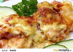 Zapečené kuřecí medailonky recept - TopRecepty.cz Top Recipes, Special Recipes, Poultry, Baked Potato, Cooking Tips, Potato Salad, Mashed Potatoes, Cauliflower, Cravings
