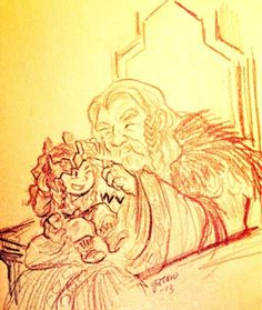 thorinobsessed: gatarooooo: The crown is too big for you now. is that little thorin? *___*