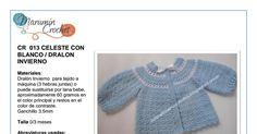 CR013 CELESTE DRALON INVIERNO (1).pdf Crochet Bebe, Baby Wearing, Lana, Google Drive, Sweaters, How To Wear, Fashion, Tricot, Crochet Jacket