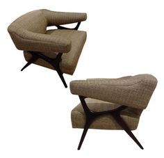 c. 1955 Club Chairs | Ward Bennett USA