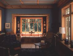 Living room of the Medlock house, Whidbey Island, Washington