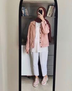 Hijab Fashion Summer, Modest Fashion Hijab, Modern Hijab Fashion, Muslim Women Fashion, Street Hijab Fashion, Hijab Fashion Inspiration, Mode Inspiration, Fall Fashion, Fashion Outfits