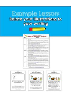 A free example week-long writing lesson following Writer's Workshop! The focus is: relating your illustrations to your writing. Includes teacher modeling procedures with teacher notes.