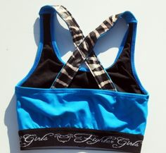 Fighter Girls Supplex & Zebra X Back Sports Bra/Top (Back)