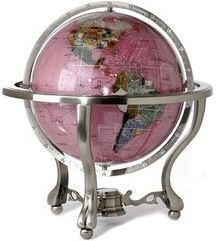 Rubalite Gemstone Globe by Alexander Kalifano