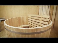 DIY Hottub of wood, made with FELDER® woodworking machines - YouTube