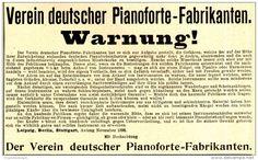 Original-Werbung/ Anzeige 1898 - VEREIN DEUTSCHER PIANOFORTE - FABRIKANTEN…