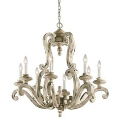 Buy the Kichler Distressed Antique White Direct. Shop for the Kichler Distressed Antique White Hayman Bay 8 Light Chandelier and save. French Country Kitchens, French Country Bedrooms, French Country Style, French Country Decorating, Country Farmhouse, Country Life, Country Living, Farmhouse Decor, French Country Chandelier