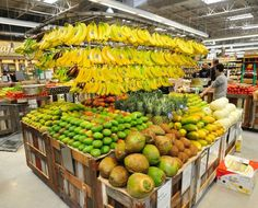 Tropical fruits are on display as the new Whole Foods store prepares to open in Danbury, Conn. Thursday, May 16, 2013. Photo: Michael Duffy ...