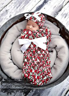 Holly And Ivy Baby Cocoon And Hat Set
