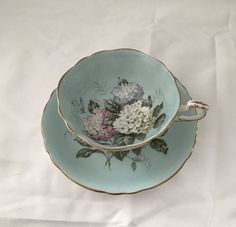 LOVELY PARAGON CHINA TEACUP SET LIGHT BLUE WITH LARGE HYDRANGEA | Pottery & Glass, Pottery & China, China & Dinnerware | eBay!