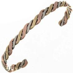 Silver Gold Copper Cuff 26191 | Alltribes