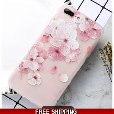 Compatible iPhone Models: iPhone SE iPhone 6 Plus, Plus iPhone 7 Plus iPhone 8 Plus iPhone X Colors: Nine Flower Patterns as Pictured Sizes: and inches Material: High Quality Soft TPU Silicone Gel Rubber Iphone 8 Plus, Iphone 5s, Iphone 7 Size, Coque Iphone, Iphone Cases, Plus 8, Cute Cases, Embroidery Fashion, Flower Fashion