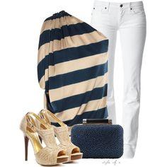 """""""Elegant Stripes"""" by styleofe on Polyvore"""