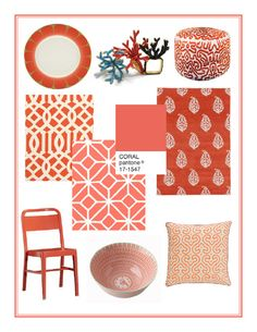 The Studio Blog - From Our Trend Files: A Pop of Coral by DwellStudio