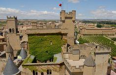 Olite castle in Navarra, Spain.