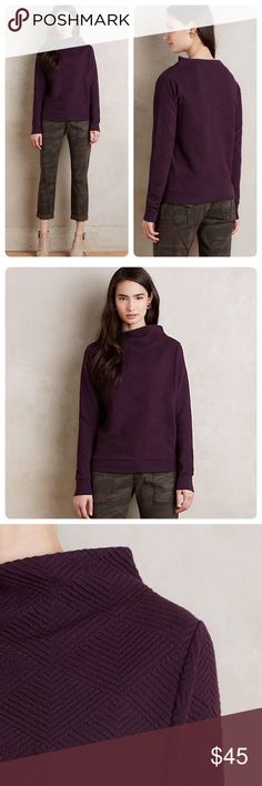 """Anthropologie Jura Funnelneck Pullover Beautiful and stylish Funnelneck pullover❤️perfect for fall/winter. Lovely color😍.                              Cotton polyester spandex Knit, machine wash 25.5"""" L. NWT Anthropologie Sweaters"""