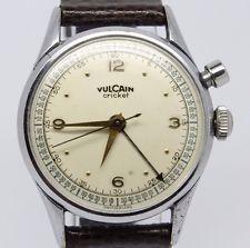 VINTAGE Vulcain Cricket Grand Prix Mens 33mm Alarm Watch - NICE ORIGINAL DIAL