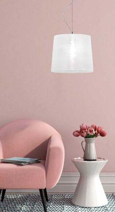 Φωτιστικό κρεμαστό μονόφωτο TORRE με γυαλί με χειροποίητο ανάγλυφο ντεκόρ/διακόσμηση και ανάρτηση χρωμίου. TORRE Collection της Viokef! Pendant glass lamp with handmade embossed decor / decoration! #handmade #handmadedecor #decorationinterieur #lightingideas #lightingtrends #chic #cosyhome Decor, Table, Shades, Table Lamp, Lamp Shade, Lighting, Home Decor