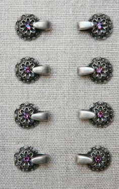 8 BODICE HOOKS / EYELETS, Rhinestone pink, Dirndl, Tracht, Bavarian, Oktoberfest #Unbranded Bodice, Diamond Earrings, Brooch, Ebay, Hooks, Pink, Crafts, Jewelry, Dirndl