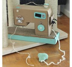 DIY Sewing Machine Cat Toy