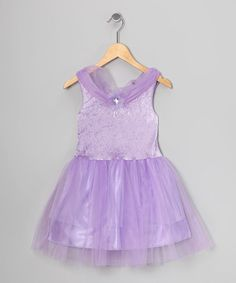 Take a look at this Lilac Velvet Princess Dress - Toddler & Girls by Princess Expressions on #zulily today!