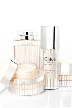 """La ligne Skincare de Chloé """"Crème de la rose"""". http://www.vogue.fr/beaute/buzz-du-jour/articles/skincare-chloe-creme-de-la-rose/17926"""