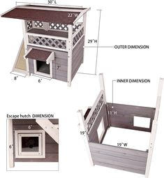 Petsfit 2 Story Outdoor Weatherproof Cat House - Chewy.com