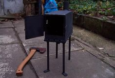 diy tiny woodstove for tiny house via http://on.fb.me/tQgHXj. Great Ideas for a garage or shed stove!