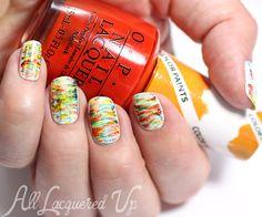 OPI Color Paints Fan Brush Nail Art via @alllacqueredup