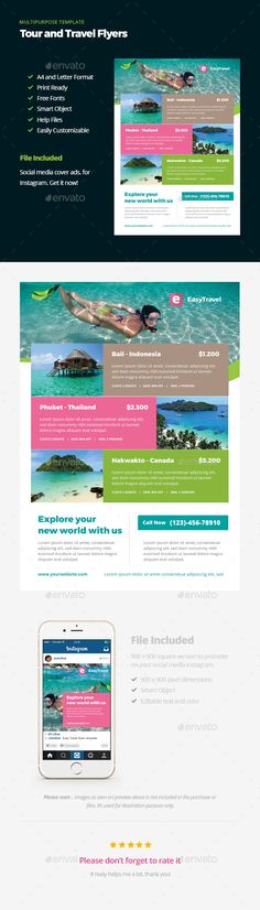 Travel Agency Flyer Vol.1 - Flyers Print Templates