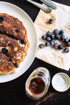 Blueberry Coconut Flour Pancakes