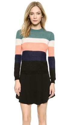 Carven Striped Knit Pullover