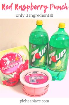 Red Raspberry 7UP Punch Recipe (with only THREE ingredients!!)