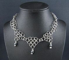 Game of Thrones Chainmail Necklace Black Pearl Steampunk Renaissance Cosplay SCA | eBay
