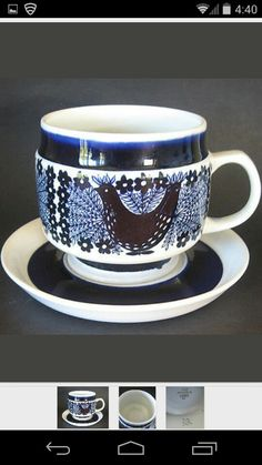 Arabia Finland coffee cup