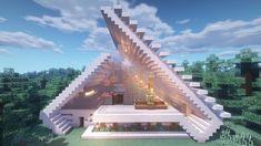 Minecraft Modern Mansion, Minecraft Cottage, Easy Minecraft Houses, Minecraft House Tutorials, Minecraft Houses Blueprints, Minecraft Room, Minecraft House Designs, Minecraft Decorations, Amazing Minecraft