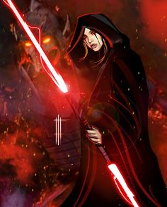 Artwork from the Star Wars Universe. Star Wars Fan Art, Star Wars Mädchen, Star Wars Girls, Star Wars Pictures, Star Wars Images, Darth Bane, Darth Sith, Starwars, Female Jedi
