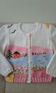 Fv - Everything About Knitting Knitting For Kids, Crochet For Kids, Knitting Projects, Crochet Baby, Knit Crochet, Knit Cardigan Pattern, Knitted Baby Cardigan, Sweater Knitting Patterns, Knitted Jackets Women